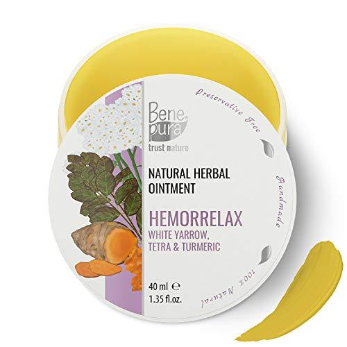 BenePura Hämorrelax 100% natürliche Kräutersalbe 40 ml Weiße Schafgarbe Tetra und Kurkuma Wirkt...