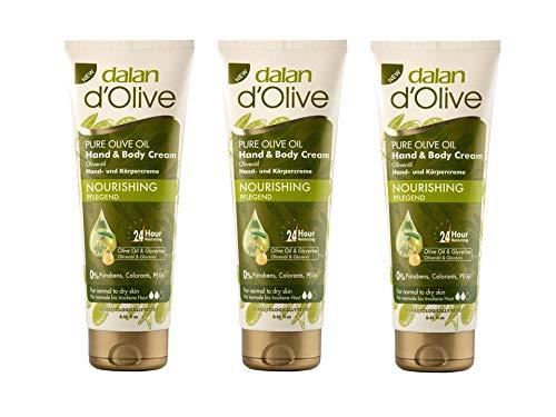 3x Dalan d`Olive Hand- & Körpercreme 250ml