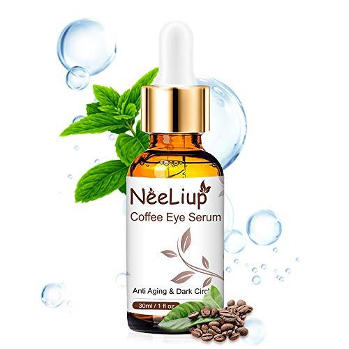 Augenserum mit Hyaluronsäure, Koffein, Aloe Augencreme Gegen Falten und Augenringe, Antialterung,...
