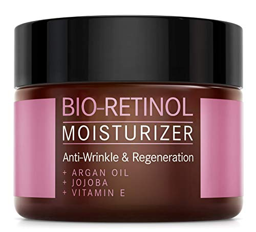 BIO-Retinol Creme - 2,5% Retinol Anti-Aging Formel mit Vitamin E, Arganöl und Jojoba -...