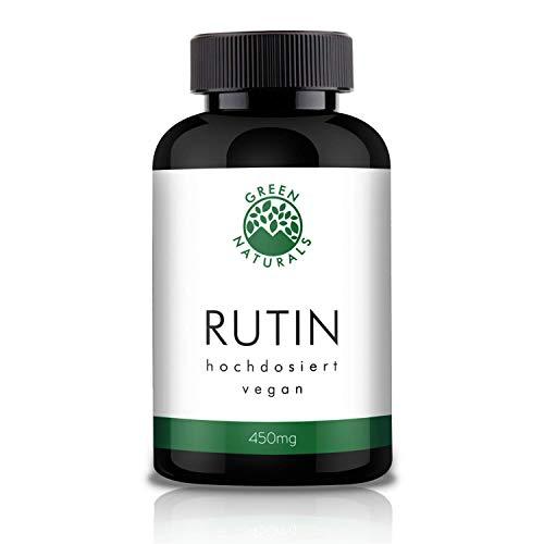 GREEN NATURALS Premium Rutin - 120 hochdosierte Kapseln á 450mg aus deutscher Herstellung – 100%...