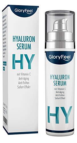 Hyaluronsäure Serum Hochdosiert - Anti-Aging Faltencreme mit Sofort-Effekt - Dermatologisch...