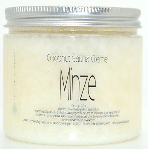 MINZE 200ml Coconut Sauna Creme-Saunacreme-Pflegecreme-Pflege Creme-Saunapflege-Kokosöl-Kokos Öl-...