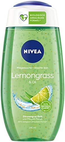 NIVEA Pflegedusche Lemongrass & Oil (250 ml), erfrischendes Duschgel mit Pflegeöl-Perlen,...
