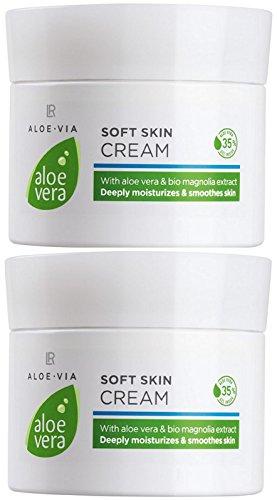 LR ALOE VIA Aloe Vera Zarte Hautcreme Soft Skin Cream (2x 100 ml)