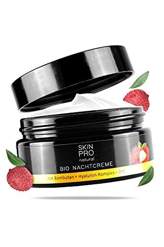 SKIN PRO natural® Bio Nachtcreme mit Hyaluron-Säure und Aloe Vera, perfekte Anti Aging...