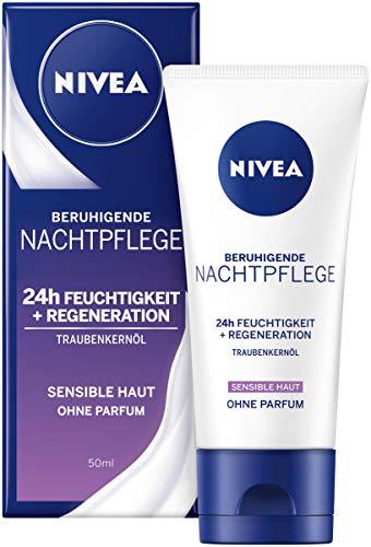 NIVEA Essentials Nachtpflege im 1er Pack (1 x 50 ml), parfümfreie Nachtcreme für sensible Haut,...