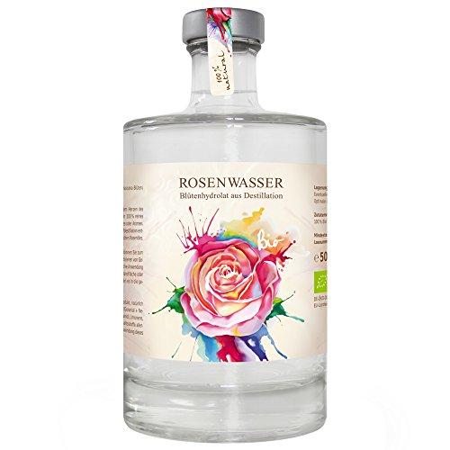 Bio Rosenwasser 500ml Hydrolat aus doppelter Wasserdampfdestillation ohne Zusatz von Alkohol