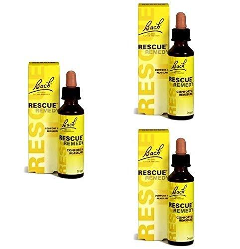 BACH ORIGINAL Rescue Tropfen, alkoholhaltig, 20 ml, 3-er Pack (3 x 20 ml)