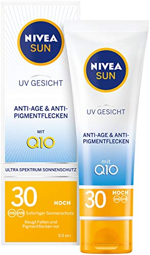 NIVEA SUN UV Gesicht Sonnencreme in 1er Pack (1 x 50 ml), Anti-Age & Anti-Pigmentflecken...