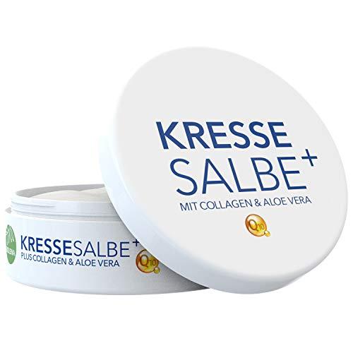 Biolena Kressesalbe Plus – Gesichtscreme/Altersflecken Creme (1 Tiegel je 100 ml) – Anti Falten...
