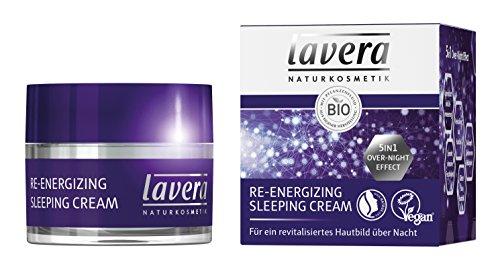lavera Re-Energizing Sleeping Cream, Bio Pflanzenwirkstoffe, Natural und innovative, Gesichtspflege,...