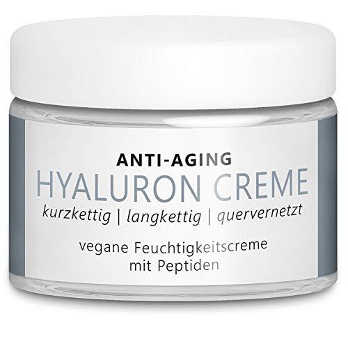 TESTSIEGER 2020: Vegane Anti-Aging Hyaluron Creme 50 ml mit 3 hochdosierten Hyaluronsäuren...