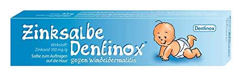 Dentinox Zinksalbe gegen Windeldermatitis - rasche, milde Wundheilung - Wundsalbe, Zinksalbe für...
