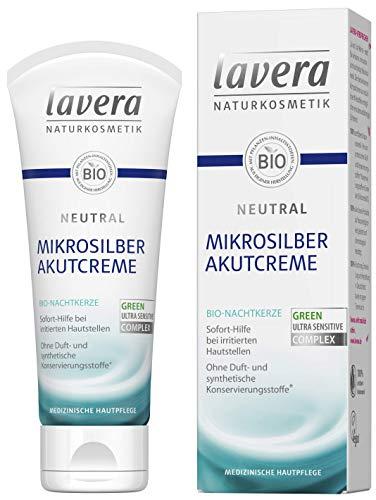 lavera Neutral Akutcreme mit Mikrosilber  Bio Nachtkerze  Sofortige Hilfe bei Hautirritationen...