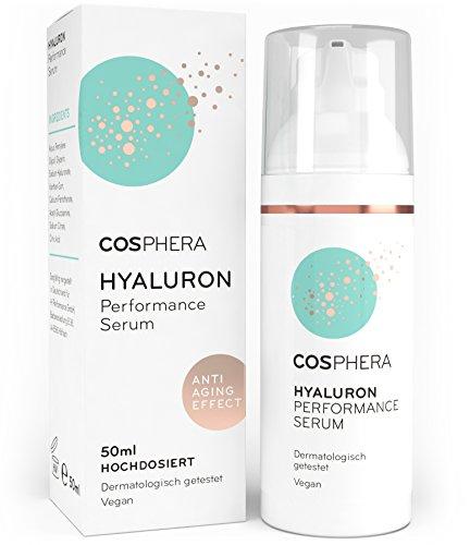 Cosphera Hyaluron Serum hochdosiert 50ml Vegan I Hyaluronsäure Konzentrat Microneedling geeignet I...