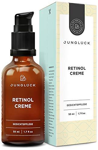Junglück vegane Retinol Creme | 50 ml in Braunglas | Vitalisierende Gesichtspflege für strahlende...