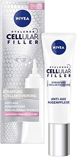 NIVEA Hyaluron Cellular Filler Anti-Age Augenpflege (15 ml), straffende Augencreme mit Magnolia...