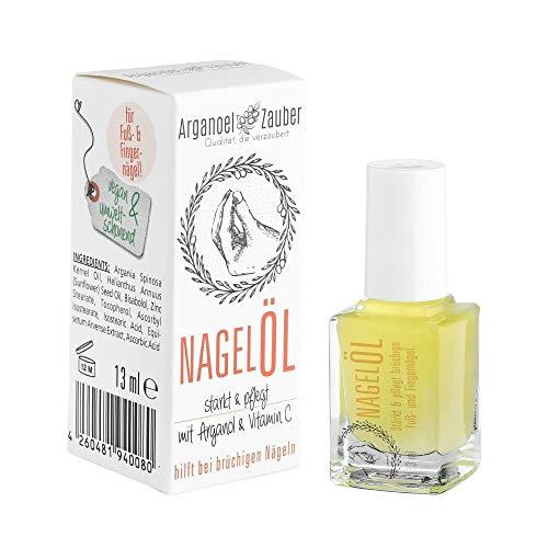 Arganoel-Zauber Nagell, Nagelhrter inkl. Pinsel, strkt & pflegt rissige, brchige Fu- und...