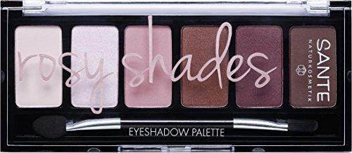 SANTE Naturkosmetik Eyeshadow Palette Rosy Shades, 6 aufeinander abgestimmte Rosé-Nuancen,...