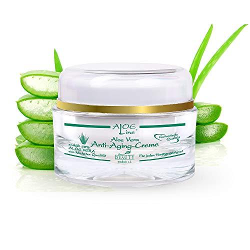 Aloe Vera Anti Aging 24h Gesichtscreme - enthält 60% Bio Aloe Vera, Acmella Oleracea & Q10 -...