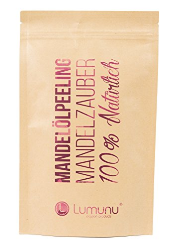 Deluxe 3-in-1 Creme Öl-Peeling MANDELZAUBER (250g), 100% natürliches Körper-Peeling mit...