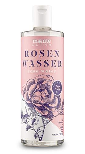 Rosenwasser MonteNativo 1x500ml - 100% natürlich, echtes Gesichtswasser, Rein und Naturbelassen,...