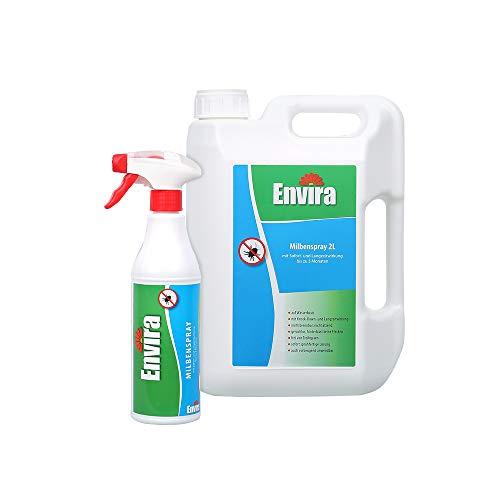 Envira Milben-Spray - Anti-Milben-Mittel Mit Langzeitwirkung - Geruchlos & Auf Wasserbasis - 500 ml...