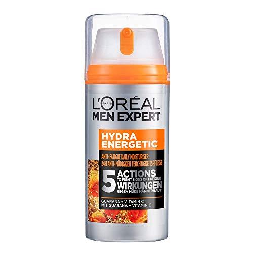 L'Oréal Men Expert Gesichtspflege für Männer, Feuchtigkeitscreme mit Guarana und Vitamin C, Hydra...