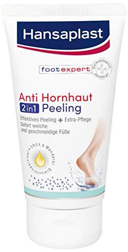 Hansaplast Anti Hornhaut 2in1 Peeling 1er Pack (75 ml), Hornhaut Entfernung mit Bimsstein und...