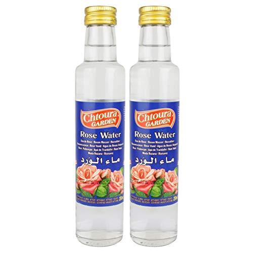 Chtoura Garden - Orientalisches Rosenwasser ideal zum Backen und Kochen - Blütenwasser zur...