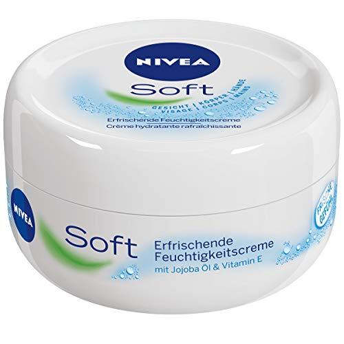 Nivea Soft Creme Erfrischende Feuchtigkeitscreme, 4er Pack (4 x 200 ml)
