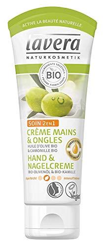 lavera Hand & Nagelcreme 2in1 Pflege ∙ Bio Olivenöl & Bio Kamille ∙ Handcreme zieht schnell ein...