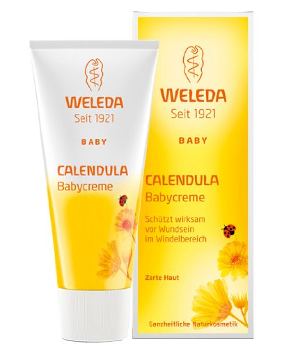 Weleda Calendula Babycreme parfümfrei 10 ml in der Reisegröße Probiergröße