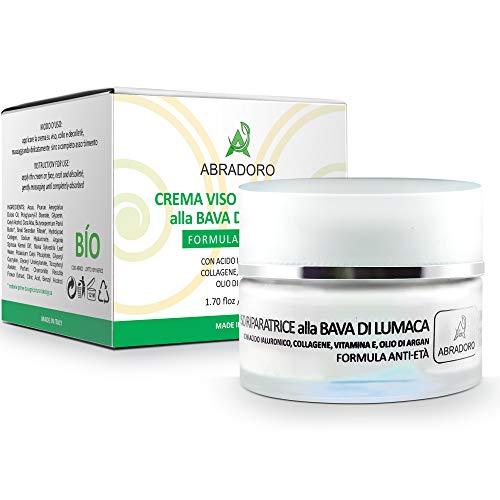 Bio Gesichtscreme schneckencreme mit 100% reiner Hyaluronsäure - Vitamin E - Collagen Arganöl ●...