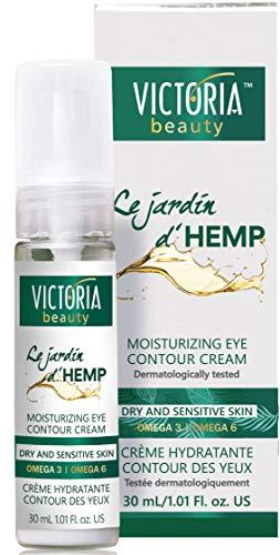 Victoria Beauty - Anti Aging Hanfcreme, Augencreme mit Hanföl hochdosiert, Creme gegen Falten und...