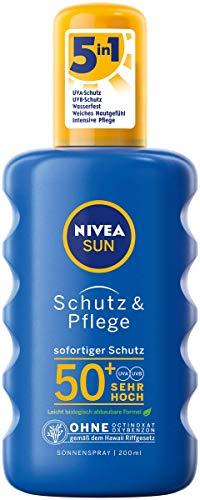 NIVEA SUN Schutz & Pflege Sonnenspray im 1er Pack (1 x 200 ml), feuchtigkeitsspendendes Sonnencreme...