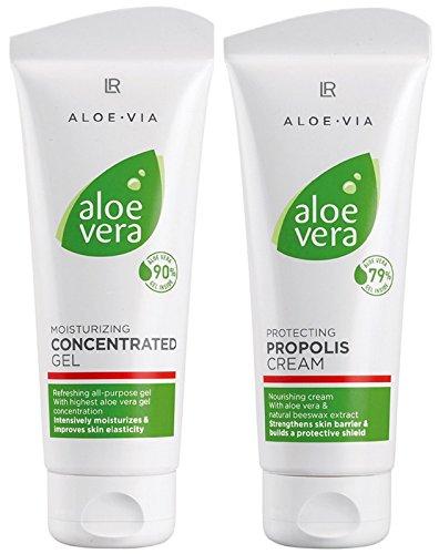 LR ALOE VIA Aloe Vera Intensiv-Feuchtigkeitspflege-Set (Konzentratgel und Propolis-Creme)