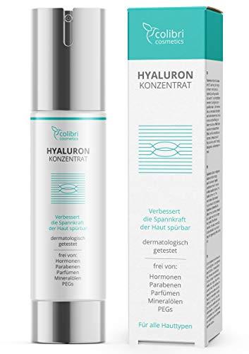 Hyaluronsäure Serum hochdosiert - Natürliche Hyaluron Anti-Aging Creme für das Gesicht - 50ml von...