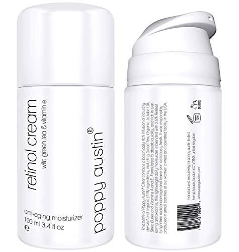 Retinol Creme für Tag & Nacht - RIESIG 100ml - Cruelty-Free & Organisch - 2,5% Retinol, Vitamin E,...
