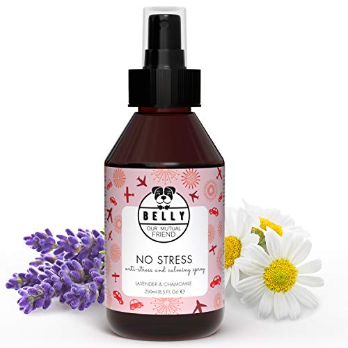 Belly - Anti Stress Spray Beruhigungsmittel für Hunde - Hunde Beruhigungsmittel wirkt wie Baldrian...