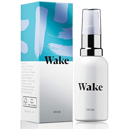 Wake Skincare Augengel – NEUE UND VERBESSERTE FORMEL - Luxurioeses Augencreme gegen muede Augen,...