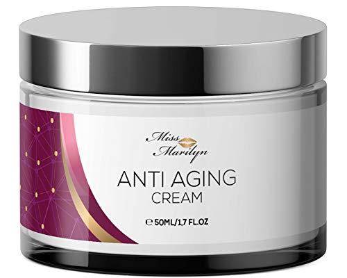 Anti-Aging Creme & Anti Falten Creme hochdosiert - Feuchtigkeitscreme von Miss Marilyn für Gesicht...