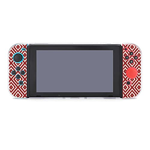 Hülle für Nintendo Switch Rot und Creme (3) Fünf Stück Set Schutzhülle Case Kompatibel mit...