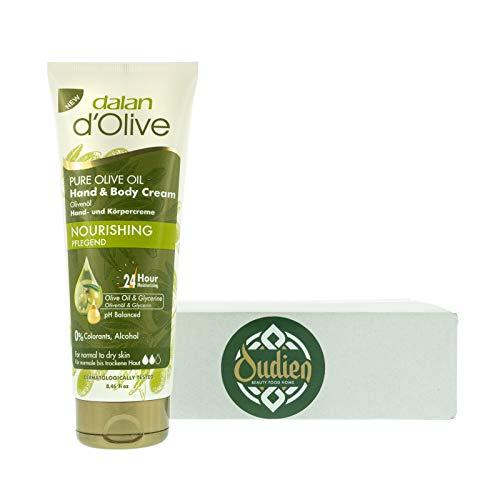 OUDIEN Dalan d'Olive Hand und Körpercreme mit reichhaltigem Olivenöl, normale bis trockene Haut,...
