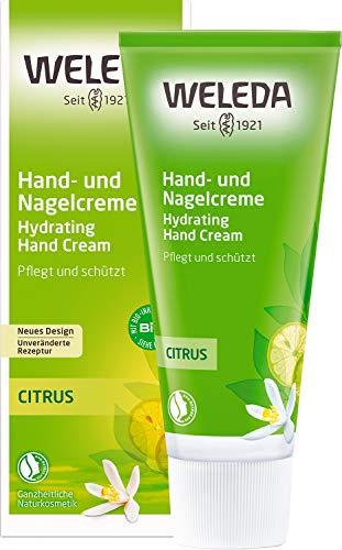 WELEDA Citrus Hand- und Nagelcreme, pflegende Naturkosmetik Feuchtigkeitscreme für brüchige Nägel...