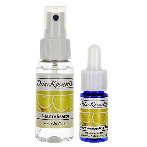 Fruchtsäurepeeling 70%, 0,5 pH, Profiheimbehandlung, AHA Glycolsäure Peeling, Fruchtsäure Peeling