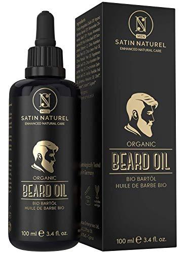 BIO Bartöl Vegan 100ml - DOPPELTE GRÖßE - Intensive Bartpflege - Bart Öl mit Einzigartigem...