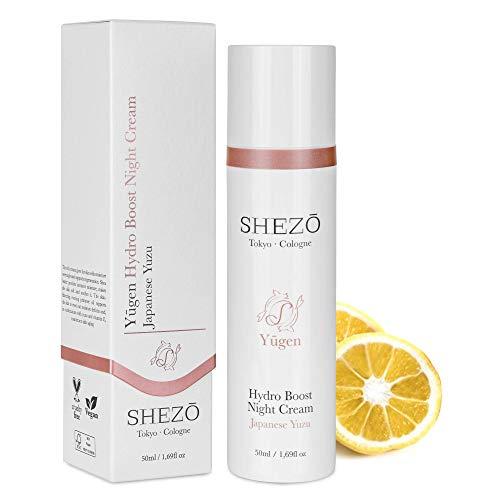SHEZO Nachtcreme 50ml Hochdosiert Anti Aging Nachtpflege Japanische Superfrucht Yuzu - Vegane...