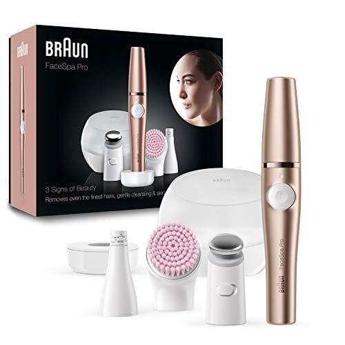 Braun FaceSpa Pro SE921, All-in-One Beauty-Gerät zur Gesichts-Epilation, inkl. Gesichtsepilierer,...